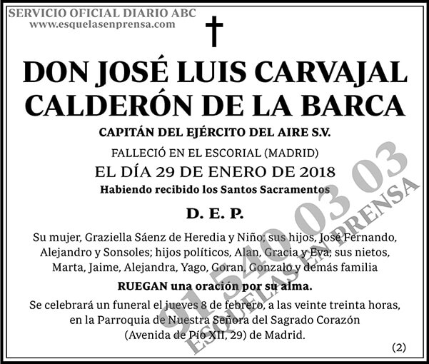 José Luis Carvajal Calderón de la Barca
